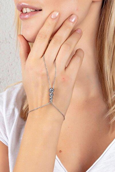 Modex Gümüş Rengi Sıralı Zirkon Taşlı Şahmeran