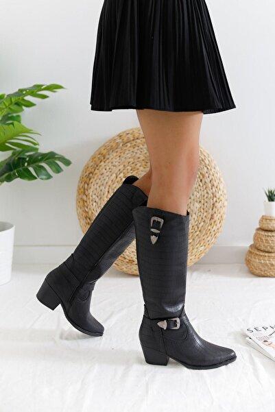 Limoya Kadın Siyah Çizme