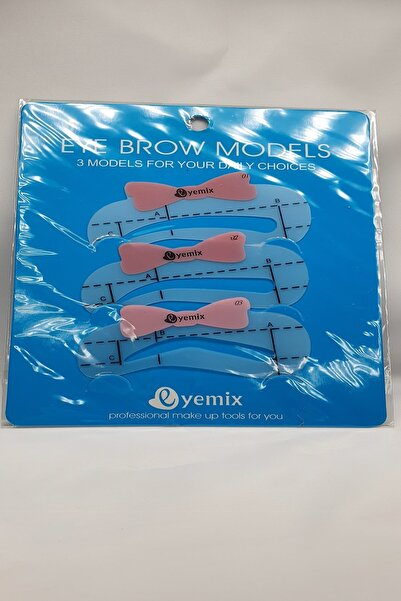 Ocean Kaş Kalıp Şablonu Eye Brow Models 3 Model