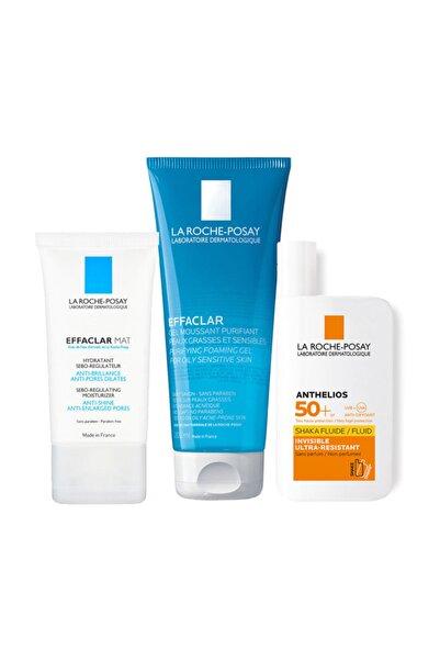 La Roche Posay Parlama Karşıtı Set | Effaclar Mat + Effaclar Jel + Güneş Koruyucu Glb20200225009