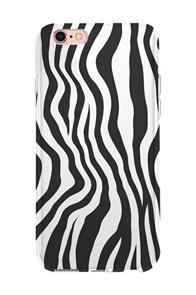 Kılıfland Apple Iphone 6s Plus Kılıf Silikon Resimli Kapak Zebra Pattern -stok 1087