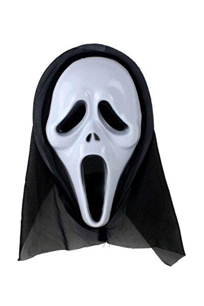 Pandoli Kapşonlu Çığlık Maskesi Ghost Scream Mask Siyah Renk