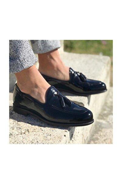 TETRİ Siyah Rugan Deri Klasik Ayakkabı