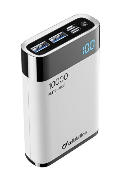 Cellular Line Manta Typec Hd Qualcomm Powerbank 10000 mah Beyaz - Freepmanta10hdw