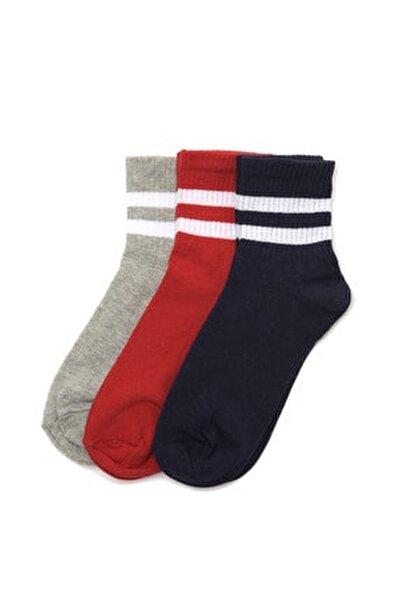 3'lü Lacivert Örme Çorap TWOAW20CO0054