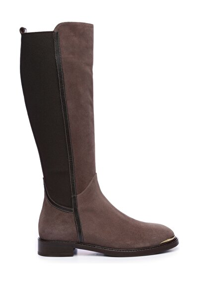 KEMAL TANCA Hakiki Deri Kahverengi Kadın Casual Çizme 94 4007 C BN CIZME