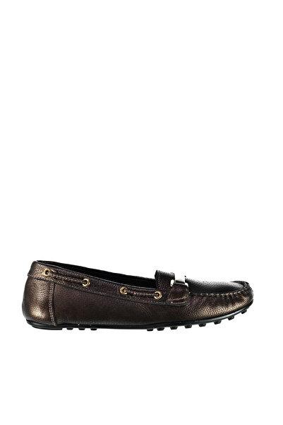 Derimod Hakiki Deri Bakır Rengi Kadın Loafer Ayakkabı