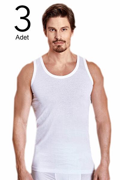 Berrak Erkek Beyaz 3'lü Paket Klasik Atlet ELF568BER1020CCM3