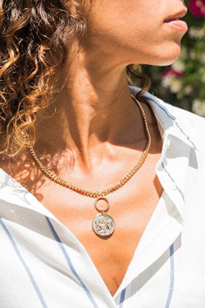 Güneşkızı Kadın Gold Madalyonlu Kolye GK-ACM122
