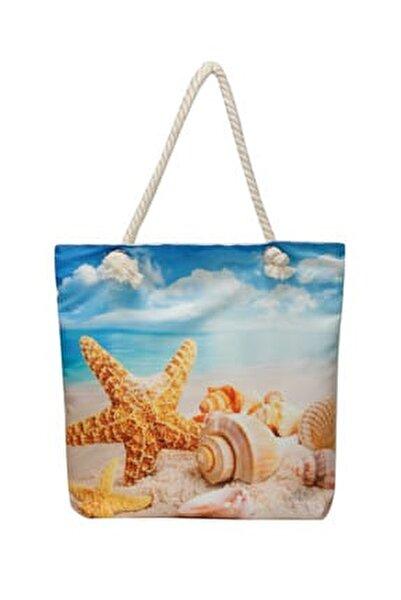 Wdrn1500 Lacivert Kadın Plaj Çantası 100374344