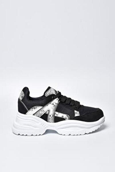 Siyah Yılan Kadın Spor Ayakkabı 9Y2SAJ0006