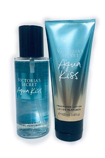 Victoria's Secret Aqua Kiss 125 ml Vücut Spreyi + 100 ml Vücut Losyonu For Women 667548880719