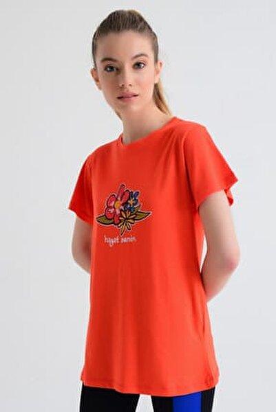 Kadın T-shirt - Wormie Hayat Senin  - WRMKHS