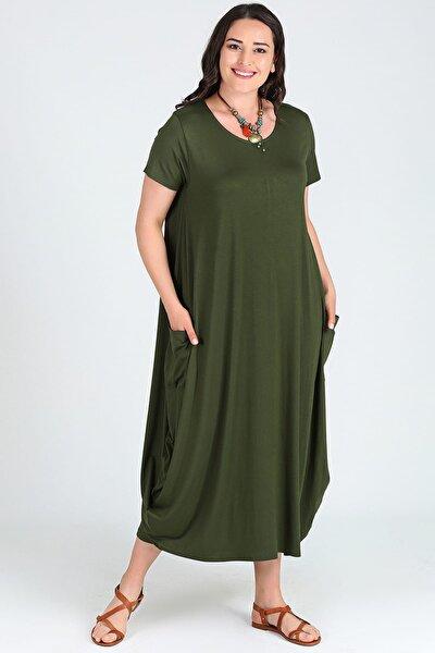 Moda Cazibe Kadın Kısa Kol Jumbo Elbise M9139