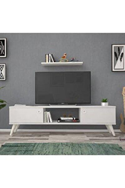 140 Cm Eda Beyaz Tv Ünitesi