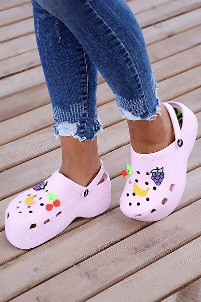 Pembe Potin Pudra Kadın Sandalet A246-19