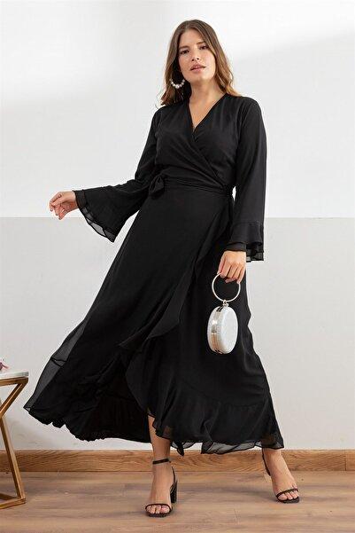 Melisita Kadın Siyah Aline Elbise fw01946eb