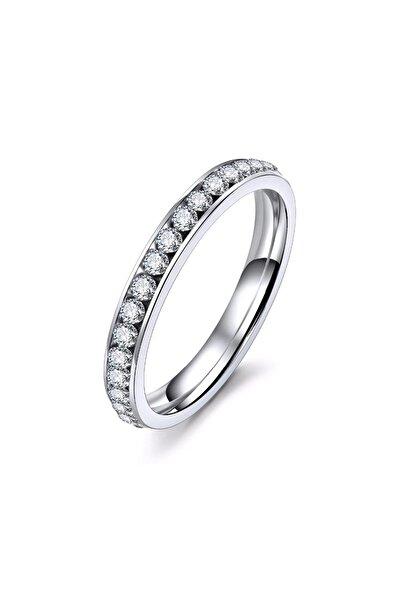 VipBT Gümüş Renk Kristal Titanyum Yüzük TR1156156_32920849166