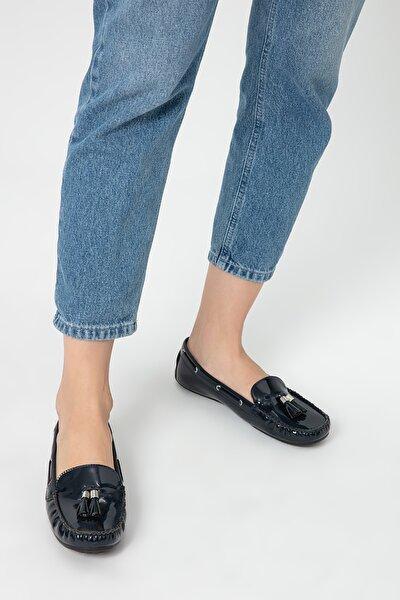 Derimod Lacivert Kadın Loafer Ayakkabı