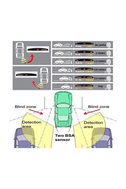 AutoEN Volkswagen Polo Classic Sedan Uyumlu Park Sensörü Dijital LED Ekranlı Beyaz Sensör Ses İkazlı