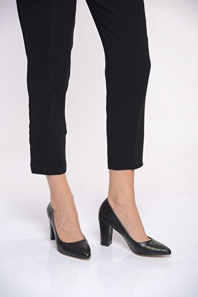 Shoes Time Siyah Kadın Topuklu Ayakkabı 19K 207