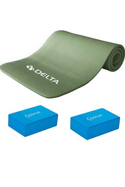 Delta 1 Cm Pilates Minderi 2 Adet Yoga Blok Block Plates Matı 10Mm Kalınlıkta Yoga Egzersiz Seti