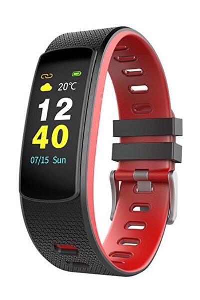 Everest Ever Fit W45 Android/ıos Smart Watch Dokunmatik Ekran Kırmızı/siyah Akıllı Saat