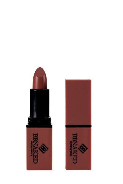Blueberry Mat Ruj - Matte Lipstick Kahverengi BBK-MLS06 BB Naked Professional Makeup 8682367009067