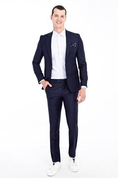 Kiğılı Erkek Lacivert Slim Fit Takım Elbise - 81600