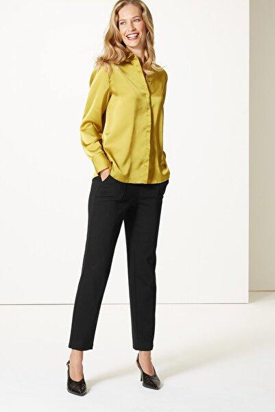 Marks & Spencer Kadın Siyah Straight Pantolon T59005510C