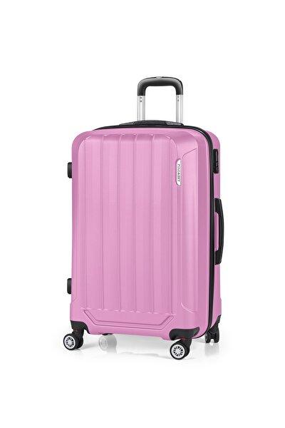 POLO&SKY Pembe Unisex Orta Boy  Valiz & Bavul Psv0151