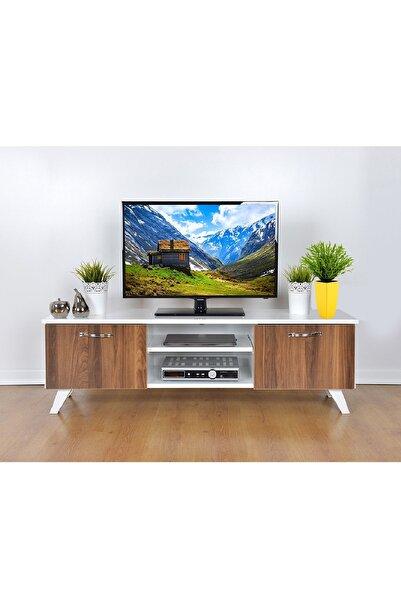 Haus Modüler Tv Sehpası Ceviz-beyaz