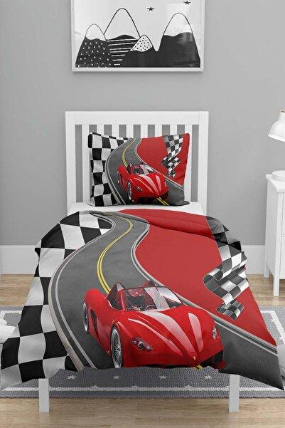 Else Halı Else Kırmızı Arabalı Tek Kişilik Çocuk 3d Nevresim Takımı
