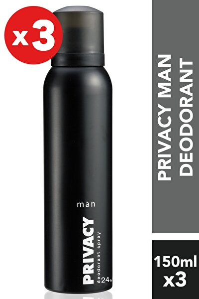 Privacy Men 3'Lü Deodorant (3X150 ml )