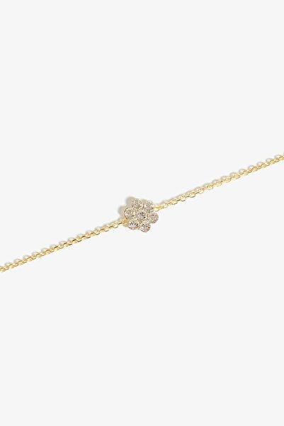 Lapidore Kadın Bellis Crystal Taşlı Gold Bileklik LBG1020