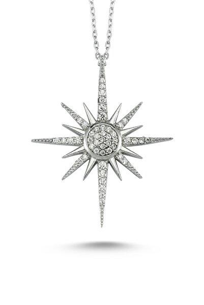 Starlight Diamond Kadın Taşlı Kutup Yıldızı Gümüş Kolye ik0059