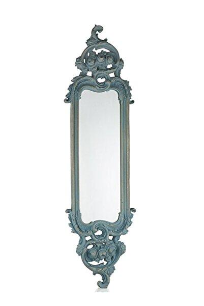 Porio Mavi Renk Uzun İnce Ayna 115*32