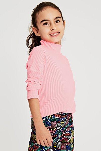 LC Waikiki Kız Çocuk Neon Pembe Px4 T-Shirt
