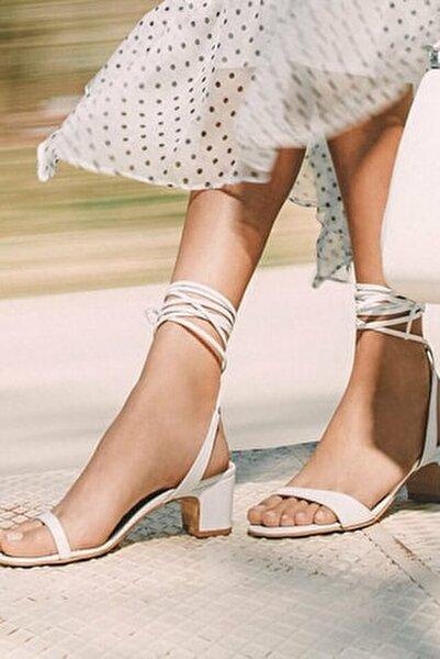 Hakiki Deri Beyaz Kadın Sandalet 01SAH144290A900