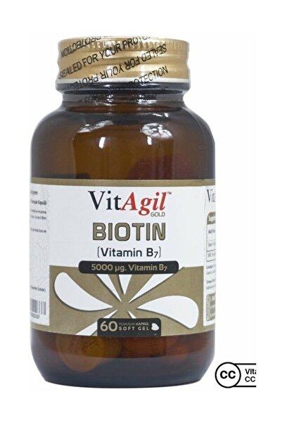 Allergo Vitagil Gold Biotin 5000 Mcg 60 Kapsül