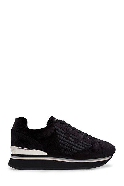 Emporio Armani Kadın Siyah Sneaker X3X057 XM064 K001