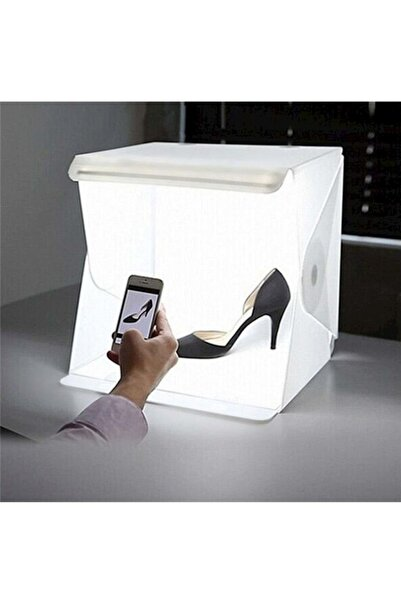 Triline Mini Stüdyo Led Işıklı Ürün Fotoğraf Çekim Çadırı Pratik Katlanabilir - 40x40