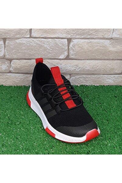 Cosby Kids Erkek Çocuk Kırmızı Siyah Slip On Spor Ayakkabı