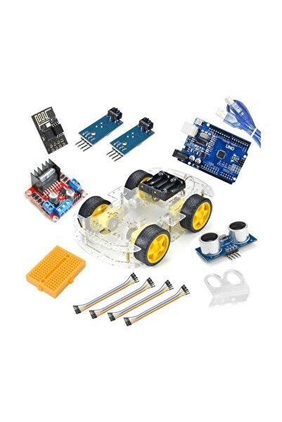 Robocombo Arduino Süper Combo 4wd Araç Seti Wifi