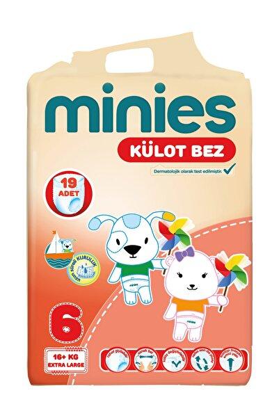 Minies Külot Bez 6 Beden 19 Adet Extra Large