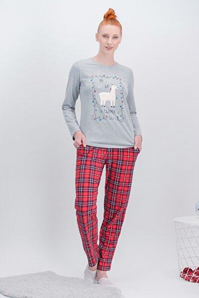 Arnetta La La Lama Ekose Grimelanj Pijama Takımı Yeni Yıl Özel