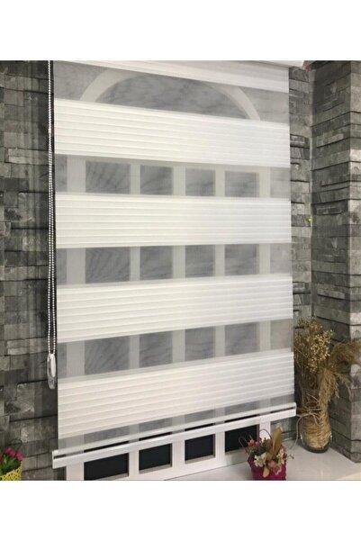 StorBurada Pliseli Stor Zebra Perde Ekru Etek Dilimli Stb481