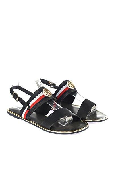 Tommy Hilfiger Kadın Corporate Ribbon Flat Sandalet FW0FW02811