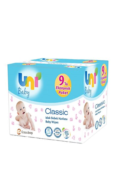 Uni Baby Classic Islak Mendil 56 Yaprak 9'lu Paket