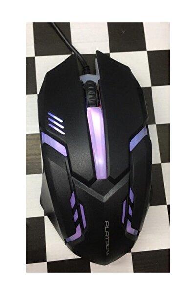 Platoon Işıklı Klavye Mouse Seti Oyuncu Klavye-mouse Set Usb Giriş Pl357